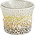 Yankee Candle Sunset Mosaic Glass Votive Holder for Samplers or Tea Lights Small 8cm/3.2' Modern & Contemporary Candle Container with 1000 Incredible Decorative Coloured Glass Beads Indoor/Outdoor