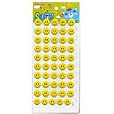 Craftplay Smiley Faces 3D Stickers (Yellow) x50 1.5cm diameter