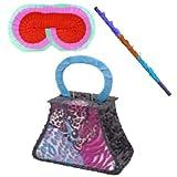 Handbag Pinata Kit - Includes Pinata,Pinata buster,Pinata Blindfold