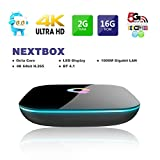 Smart Android TV Box ,QBOX 2017 Model Android 6.0 TV Box Amlogic AmlogicS905X 2GB RAM 16GB ROM Smart TV Box With Quad Core A53 Processor 64 Bits, HDMI 2.0 Output Support 4K*2K@ 60HZ Full HD,H.265,WIFI 2.4Ghz,1000M For Home Entertainment