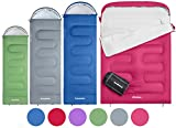 KingCamp Oasis 3 Season Sleeping Bag 4 Available Sizes (Child, Adult, Extra-Large & Extra-Large Double) in 6 Colours for Camping, Festivals, Hiking, Home or Outdoor (Adult 220 x 80cm 4 Season, GREY R)