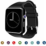 Smartwatch TagoBee TB-01 Bluetooth Smart Watch with Camera Music Player Supports SIM/TF Card 2.5D Touch Screen for Android Phones and iPhone (Partial Function) (black)