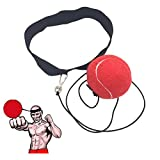 Ueasy Boxing Training Ball Improve You Speed Coordination Reflex Ability Exercise for Gym, Boxing MMA And Other Combat Sports (Red)