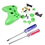 HDE Xbox 360 Wireless Controller Shell Buttons Thumbsticks Torx Screwdriver Replacement Case Cover and Tool Kit - Green