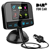 [2.4' Colorful Screen] Car Radio Adapter, Esuper Portable Car DAB+ Digital Radio Adapter With Bluetooth FM Transmitter + Aux-in/Out + Car Charger + TF Card Play + Hands-free Calling + 60 Presets