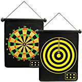 Roll Up Double Sided Safe Magnetic Dartboard With 6 Darts For Kids Novelty Childrens Game Family Fun Makes A Great Gift