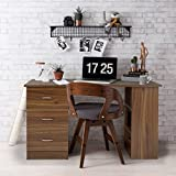 Laura James | Computer Desk |3 Drawers | 3 Shelves | Home Office Table | Workstation (Walnut/Espresso)