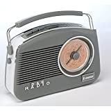 Steepletone Dorset DAB Retro Styled Radio in Grey