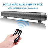 TV Sound Bar Wireless Bluetooth Speaker Soundbar LP-08 Channel 2.0 With Built-In Subwoofer Remote Control Support Optical/AUX/TF Card/USB(Black)