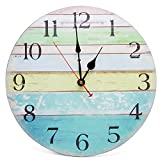 Asvert 3D DIY Large Wall Clock With Digital Number Personalised Art Stickers Frameless Modern Decorative Clock For Living Room Kitchen Bedroom Office Silver