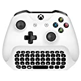 Xbox One Mini Keyboard, 2.4G Receiver Wireless Chatpad Message Game Keyboard Keypad for Xbox One/Xbox One S Controller- 2.4GHz Receiver included -White