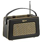 Zennox DAB Radio with Alarm Clock Portable Digital FM Radio Vintage Style (Gold & Black)