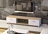 Littleborough Furniture Company Slim Low Rise Painted Wood Effect TV Stand for TV sizes 32 to 70 inches in aok and white finish