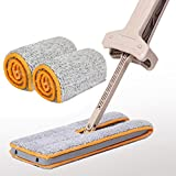 Elecenty Home Tool,Dust Double Sided Push Mop Device Non Hand Washing Mop Power Saving House Tools (Khaki)