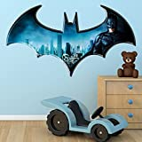 Batman Dark Knight Logo DC Superhero Comic Full Colour Wall Art Sticker Decal Mural Children's Bedroom Transfer Graphic