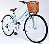 Universal Chic 700c Ladies City Bike with Basket in Blue
