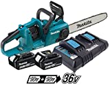Makita DUC353PT 36V (Twin 18V) Cordless Brushless 350mm Chainsaw (2 X 5.0AH)