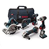 Bosch Professional 18 V Heavy Duty Power Tool Kit and Bag (3 x 5.0 Ah Lithium-Ion CoolPack Batteries) - 6-Piece