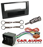 T1 Audio Black Fitting Kit With Single Din Facia Adaptor Wiring Harnes, Aireal Adaptor And Removal Keys For Original Stereo