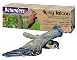 Defenders Flying Falcon Decoy (Stooping Bird-of-Prey Deterrent, 21 inch (53 cm) Wingspan for Gardens, Scares Foraging Birds from Outdoor Areas, Hanging System for Wall and Tree Mounting)