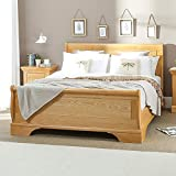 French Classic Oak 6ft Super King Size Sleigh Bed