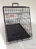 Single Sloping (front + back) Dog Car Cage Crate 2 Doors GYC03P