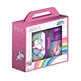 P: OS 27564Unicorn Lunch Set: 2Piece Set in Gift Box