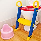 Unibos Toilet Ladder Chair Toilet Trainer Potty Toilet Seat Step Up Toddler Toilet Training Step Stool for Girls and Boys