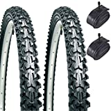 CST Eiger 26' x 1.95 Mountain Bike Tyres with Schrader Tubes (Pair)