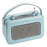 Vintage Style Quality DAB/FM Digital Radio Clock Radio Alarm Clock (Duck Egg Blue)