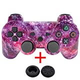 Etbotu Wireless Bluetooth Game Controller, Gamepad + USB Cable + 2 Silicone Cap for PS3