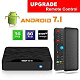 Android TV Box - VIDEN W1 Newest Android 7.1 Smart TV Boxsets, Amlogic S905W Quad-Core, 1GB RAM & 8GB ROM, 4K Ultra HD, WIFI Media Player + Mini Wireless Keyboard with Air Remote