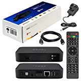 MAG 322w1 Original Infomir & HB-DIGITAL IPTV SET TOP BOX with WLAN (WiFi) integrated up to 150Mbps (802.11 b/g/n) 1x1 Multimedia Player Internet TV IP Receiver (HEVC H.256 support) successor of MAG 254 with UK Plug + HB Digital HDMI Cable