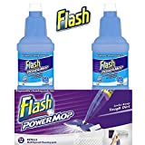flash power mop refills2 x 1.25ltr bottle & 12 refill pads new