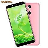 Cheap Mobile Phone, OUKITEL C8 4G 5.5 Inch (18:9 Aspect Ratio Full Vision) Android 7.0 Dual SIM Unlocked Smartphone Quad Core 5MP+13MP Camera 2GB RAM 16GB ROM 3000mAh Battery Fingerprint GPS Cell Phone - Pink