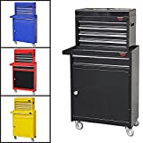 MEDIUM TOOL CHEST TOP CABINET TOP BOX AND ROLL BLACK