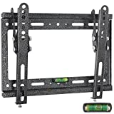 FANCYINN Fixed Flat TV Wall Mount Bracket Built in Spirit Level fits for 14'-42' Plasma, LED LCD Plasma Tilt down 15 degree, Max TV weight 77lbs( 35KG)