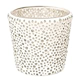 Yankee Candle Bubble Mosaic Clear Votive Holder Solid Glass for Samplers or Tea Lights Small 8cm/3.2' Modern & Contemporary Candle Container with 1000 Incredible Decorative Glass Beads Indoor/Outdoor