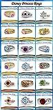 Vorra Fashion 925 Sterling Silver 18 Disney Princess Inspired Engagement Rings, Wedding Rings (Disney Rapunzel Princess 1)