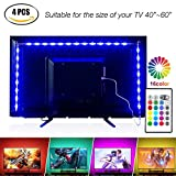 Pangton Villa 2m Led Strip USB TV Backlight Kit with Remote for 40-60in TV Bias Lighting Multi Color TV Lights