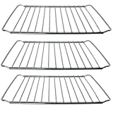 SPARES2GO Stainless Steel Adjustable Width Shelf For New World Oven Cooker (3 Shelves)