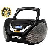 Lauson Cd-Player | Boombox Stereo | Portable Radio CD Player with USB | Usb & MP3 Player | Headphone Jack (3.5mm) | CP745 (Black)