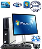 Windows 7 - Dell OptiPlex Computer Tower with Dell 17' LCD TFT Flat Panel Monitor - Powerful Intel Core 2 Duo Processor - 250GB Hard Drive - 4GB RAM - WiFi - Keyboard and Mouse - External Speakers
