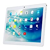 10.1' Inch Android Tablet PC, QIMAOO 2GB RAM 32GB Storage Phablet Tablet Quad Core Unlocked 3G Cell Phone Tablets, Dual Camera Sim Card Slots, Wifi, GPS, Bluetooth 4.0,1280x800 HD IPS Screen Display, Google Play (Silver)