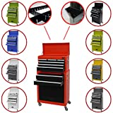Dirty Pro Tools LARGE TOOL CHEST WITH SIDE TRAY AND DRAWER DIVIDER TOP CABINET TOP BOX AND ROLLCAB BOX
