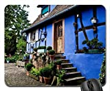 blue house Mouse Pad, Mousepad (Houses Mouse Pad)