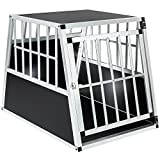 TecTake Dog cage trapezoidal - different models - (Single big / sloping rear wall | No. 401623)