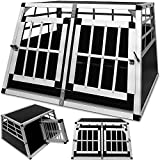 Dog Transport Box - 2 Doors - 90x69x50cm- Aluminium Pets Animals Car Crate Carrier