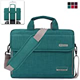 BRINCH New Style Oxford Fabric Unisex Universal Luxury Portable Laptop Sleeve Case Carrying Messenger Bag Shoulder Briefcase Handbag For 14 - 14.6 Inch Laptop / Notebook / MacBook / Ultrabook / Chromebook Computers (Apple / Acer / Asus / Dell / Fujitsu / Lenovo / HP / Samsung / Sony / Toshiba etc.) with Shoulder Strap Handle and Pockets ( Green )