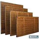Lap Wooden Fence Panels 3ft, 4ft, 5ft, 6ft Horizontal Dip Treated (6ft x 5ft)